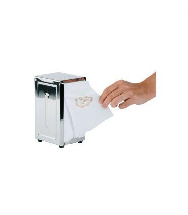 Porte serviettes papier inox 18/8 poli miroir pour serviettes pliées 1/8