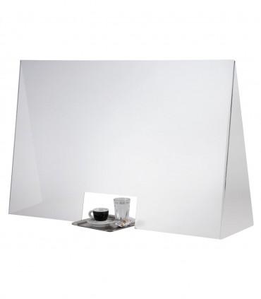 Séparateur plexiglas 98 x 28 cm H 65 cm