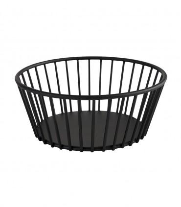 Corbeille métal noire ronde Ø 17 cm Stellinox
