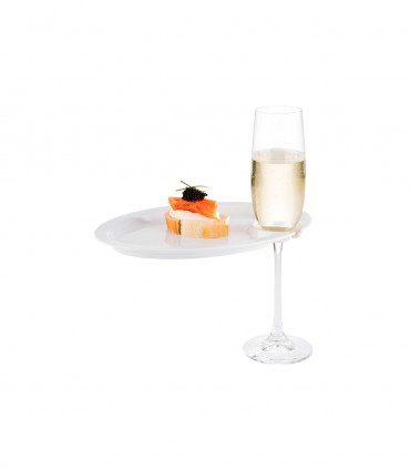Assiette cocktail porte verre Stellinox