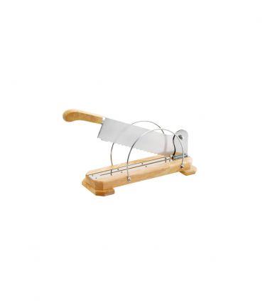 Coupe pain sur socle bois lame 35 cm