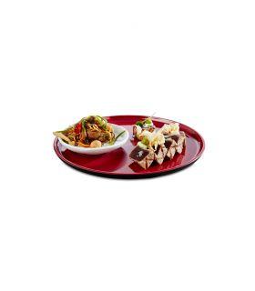 Assiette mémamine Asia + Ø 24 cm noire, intérieur rouge