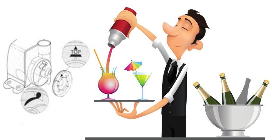Nettoyage fontaine à cocktail